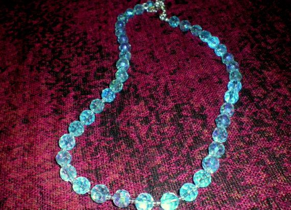 Neptune necklace continues the #astronomy theme. Neptune is said to be farthest #planet from the sun and the coldest. The beads that I chose for Neptune reflects the intensit... #frost #space #glaciers #cold