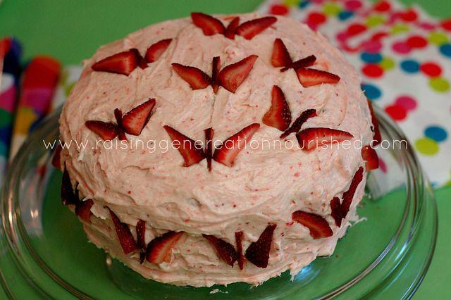 Strawberry Birthday Cake :: Gluten, Egg, Nut, & Dye Free ( not the ...