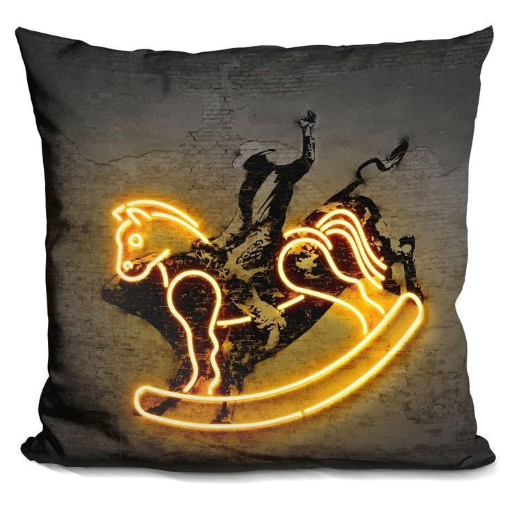 Lilipi Rodeo Decorative Accent Throw Pillow, Multi (Velvet)