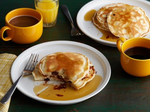 Weekend mornings should be used for whipping up these much-loved maple syrup-doused Chocolate Chip Pancakes.