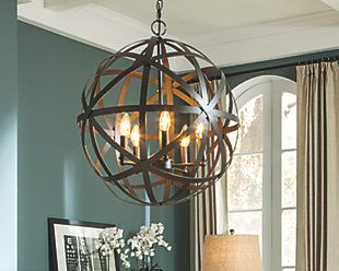 Dining Room pendant inspiration.  Overscale, large and dark - Antique Bronze as with the clock in the foyer.