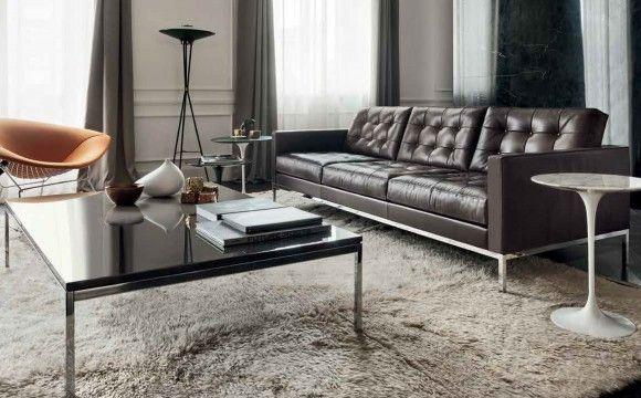 Anilin für Florence Knoll Sofa - Einrichtungsidee - Ledersofa