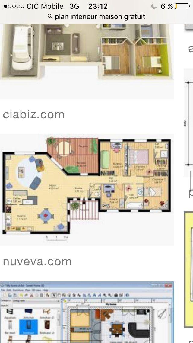 149 best Maisons images on Pinterest Home plans, Cottage floor