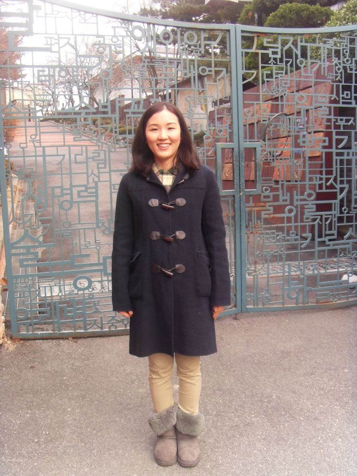 In front of the door of Seoul Art Space Yeonhui for literary people.