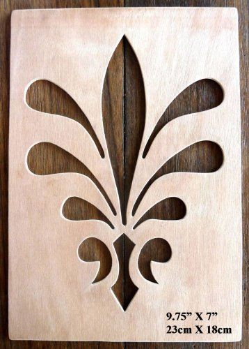"""Beautiful Large Sized Hand Crafted MDF 'Decorative Floral Design' Drawing Template / Stencil - 9.75"""" X 7"""" by Greg Ledder http://www.amazon.co.uk/dp/B00KD5COXS/ref=cm_sw_r_pi_dp_CfLjvb0DT872Y"""