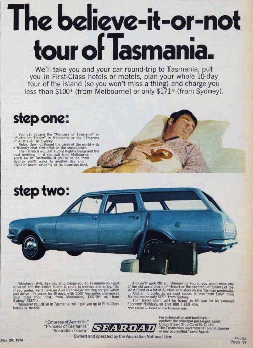Go to Tasmania, 1970