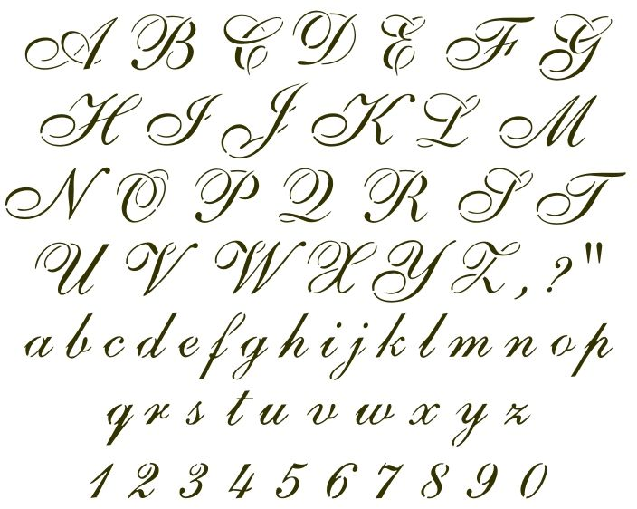 Cursive font sample handwritten samples pinterest How to write calligraphy letters az