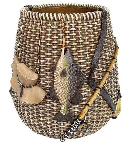 Thank you. You will receive a $1 off coupon during checkout. Rustic Rather Be Fishing Waste Basket