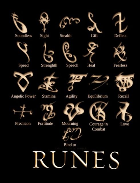 "Day 6... Fave Rune... They are all cool...love, I guess Cassandra Clare ""City of bones"" Runes"