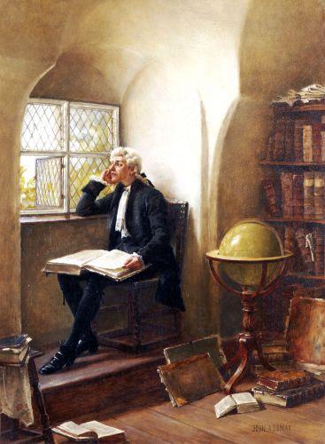 """The Young Academic"". John Arthur Lomax (1857-1923). #globe"