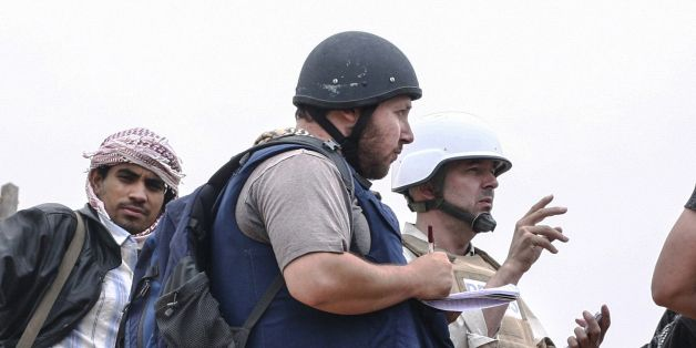 Sept 2, 2014. Another journalist beheaded!? Steven Sotloff, American Journalist, Allegedly Beheaded By ISIS... The militant Islamic State group has released a video in which it claims to have beheaded the captured American journalist Steven Sotloff,accordingto the SITE Intelligence Group.  In the video, whichlastsfor just under three minutes, ISIS murders Sotloff andthreatens the lifeof David Haines, a British citizen.