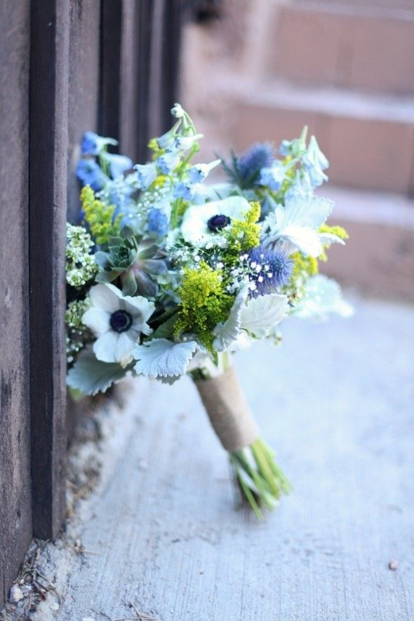Blue Wedding Flowers Classic Country By Brittanee Taylor Photography
