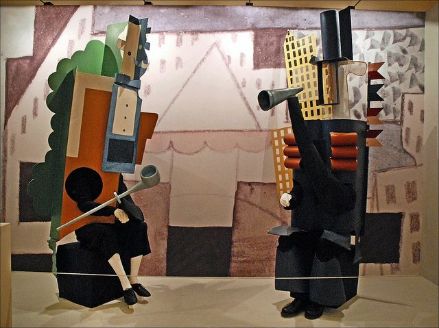 Picasso costumes from Jean Cocteau's Parade (The Ballets russes, Opéra) by dalbera, via Flickr