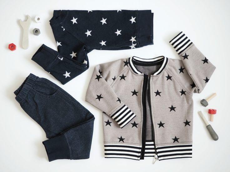 Tähtiä ja denim-lookia. DIY. Ompelu.