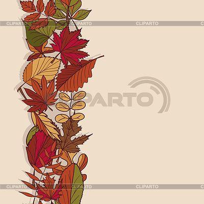 Осень рисунок. Структура осенние листья. Красный,   Векторный клипарт   ID…