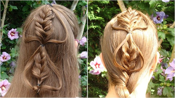 DIY Bubble fishtail braid with loops tutorial