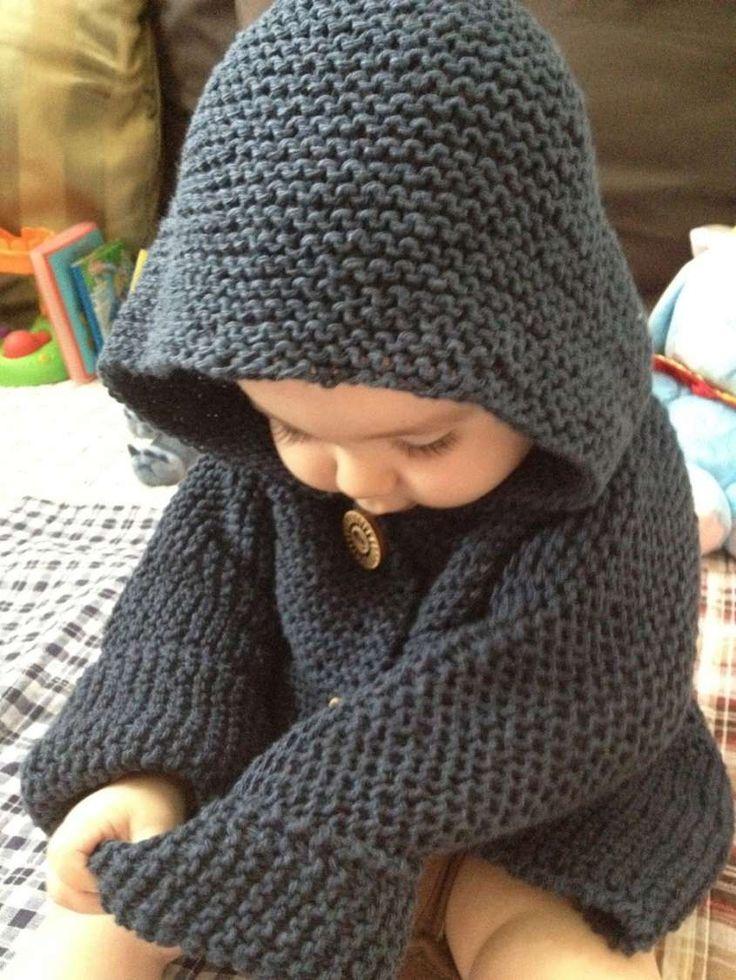 Abiti a maglia per bambini - Maglione grigio scuro