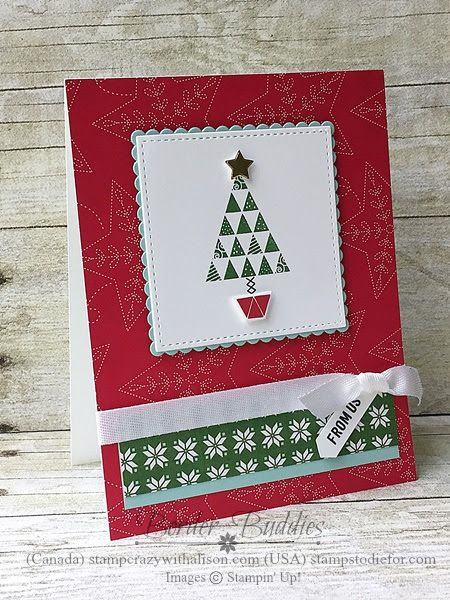 Border Buddy Saturday Christmas Quilt & Quilte Builder Framelits by Stampin ' Up! www.stampstodiefor.com 222
