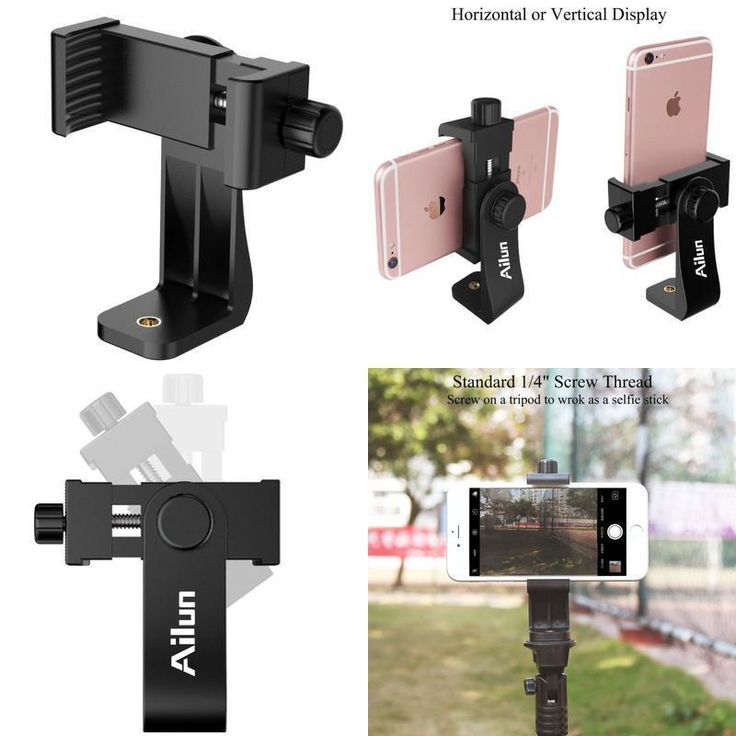 Universal Smartphone Tripod Adapter Cell Phone Holder Mount For iPhone Samsung #AILUN