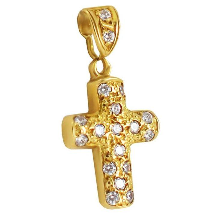 ΣΤ506Τ -Χρυσός βαπτιστικός σταυρός