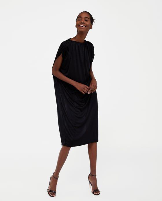 ZARA - WOMAN - DRAPED SHOULDER DRESS