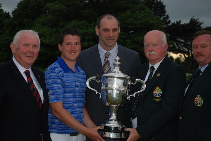 Winner Colm Campbell at #Baltray Golf Club