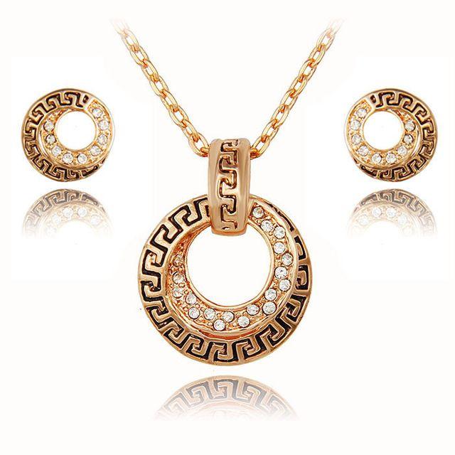 Ювелирные наборы африканский свадебный позолоченные австрийский хрусталь ожерелье серьги роскошные свадебные женщины свадебные ювелирные изделия набор купить на AliExpress