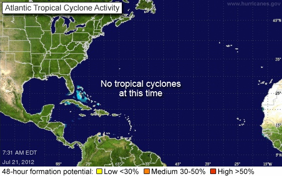 Check Tropical Cyclone Activity  http://www.nhc.noaa.gov/