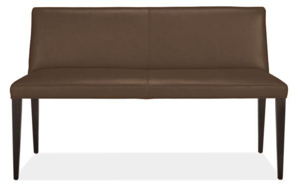 Room & Board | Ava 54w 22d 33h Bench in Portofino Leather in Leather/Wood in Teak