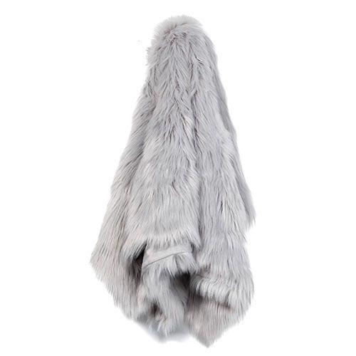 Home Republic Alpine Fur Moonrock Throw | Adairs