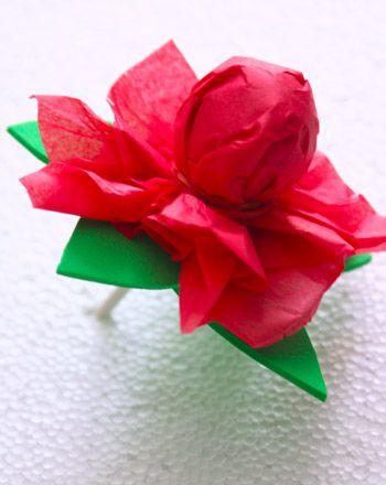 Rosa St. Jordi per fer amb un xupa-xup