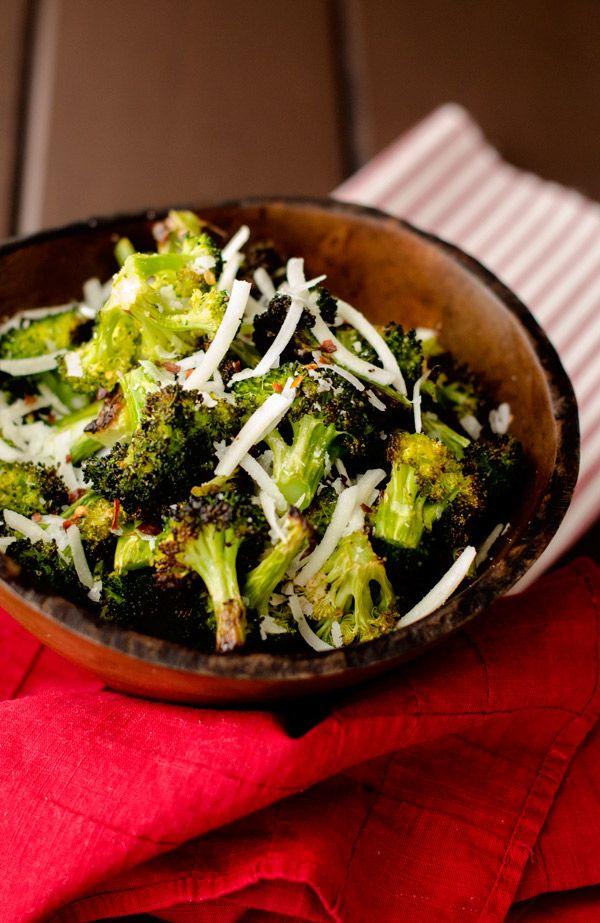 ... roasted broccoli with smashed garlic recipes dishmaps roasted broccoli