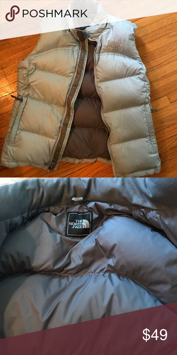 The North Face goose down vest Perfect condition baby blue The North Face goose down puffer vest.  Make me an offer! The North Face Jackets & Coats Vests