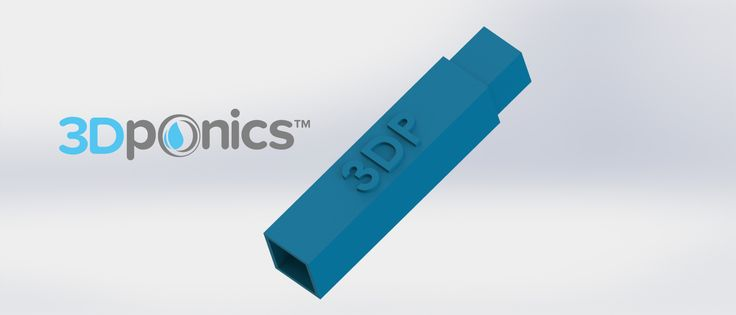 Support Rod (Square) | Feed your rubber tubing through the hollow rod to ensure that the water or nutrient solution flows smoothly through your system. It also ensures that the conduit or venturi is positioned vertically in the nutrient solution so that it can suck up the water efficiently. #3Dponics