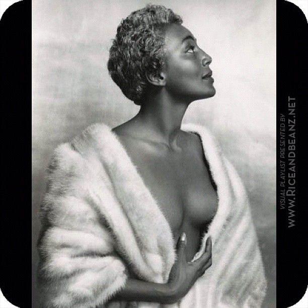 Provocative silver tinted haired Jazz singer Joyce Bryant. Riceandbeanz.net