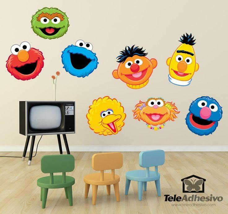 Vinilos Infantiles: Kit Barrio Sésamo #vinilodecorativo #decoracion #teleadhesivo #BarrioSesamo #SesameStreet #Sesame #Sesamo #Epi #Blas #Coco #Triky #Caponata #Elmo #Oscar #Zoe