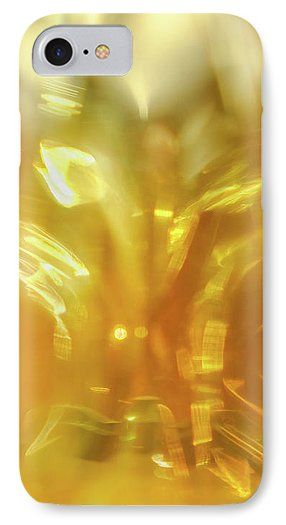 Jane Star IPhone 7 Case featuring the photograph Viscous Honey by Jane Star   #JaneStar #IPhoneCase #Abstract #Yellow #Glass