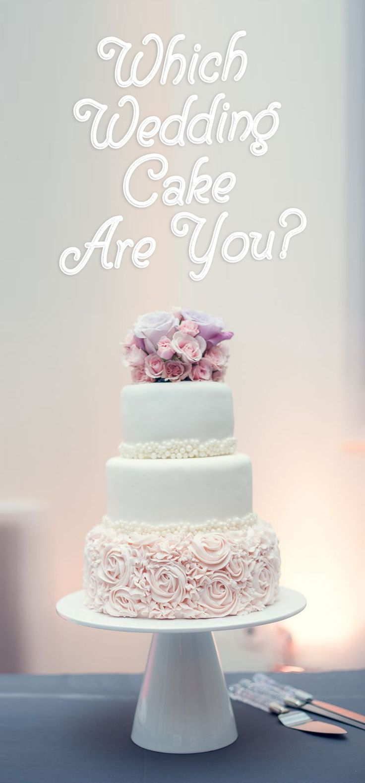 The traditional white lace cake or a colorful rainbow to match your vivacious personality . Find out which one are you?