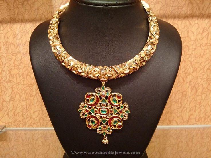 Gold Nakshi Work Jewellery Collection , Nakshi Work Jewellery Designs, Gold Nakshi Necklace Designs.