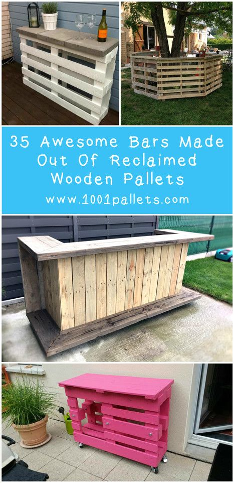 35 Awesome Bars Made Out Of Reclaimed Wooden Pallets | 1001 Pallets ideas ! | Scoop.it
