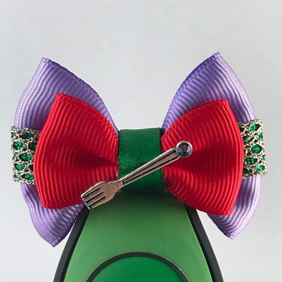 Little Mermaid Collection - Ariel inspired Walt Disney World's Magic Band Bow / Apple Watch Accessory **Mini Hair Bow Option**