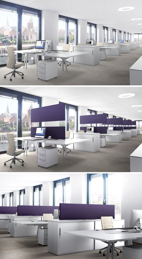 acousticpearls ARCHITECTS – open space acoustic system:  More space in modern offices