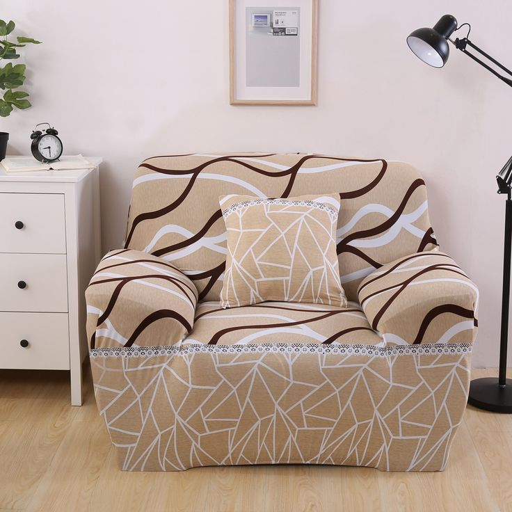 Light Brown Stripes Corner Sofa Covers Universal Elastic Couch Sofa Slipcovers Multi-size Elastic Sofa Cover Sofa all-inclusive. Yesterday's price: US $37.00 (30.03 EUR). Today's price: US $19.24 (15.61 EUR). Discount: 48%.