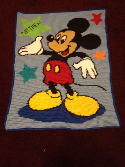 Hey, I found this really awesome Etsy listing at https://www.etsy.com/listing/203223277/mickey-mouse-crochet-blanket