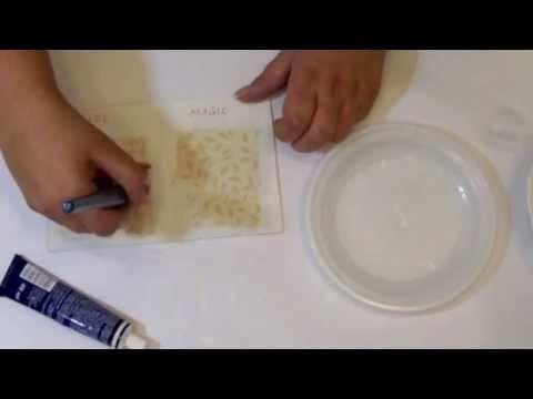 Przyklejanie serwetek decoupage - czym przyklejać serwetki - YouTube