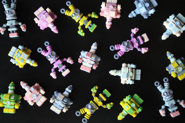 Colorful and different robots