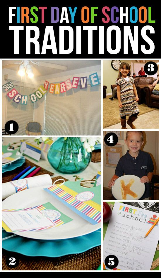 25 Fun First Day of School Traditions!  I love the new clothes fashion show, fun!