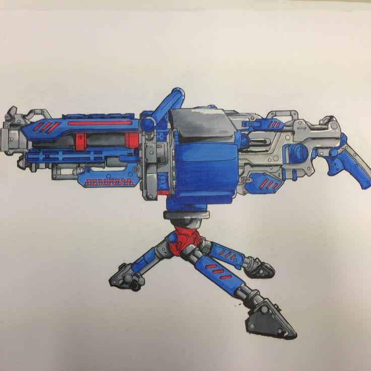 Nerf gun render