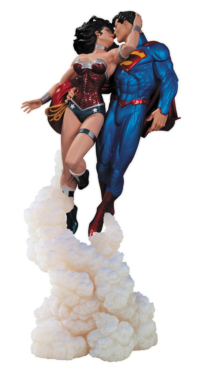 """Superman & Wonder Woman """"The Kiss"""" Statue by DC Collectibles - my wallet is hoping they make a mini version of this eventually."""
