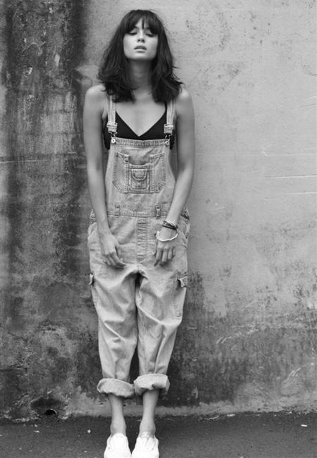 Baggy dungarees.
